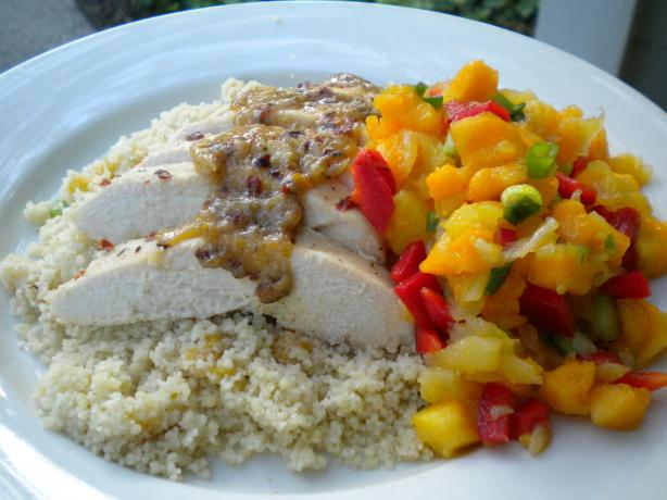 Tropical Chicken Couscous W/ Rum Vinaigrette. Photo by Tarteausucre