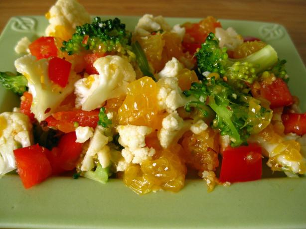 Cauliflower Orange Salad (Raw Food). Photo by WiGal