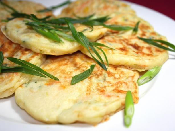 Cheesy Vegetable Pikelets. Photo by **Jubes**