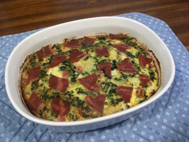 Good Morning Florentine Ham and Eggs Casserole. Photo by 2Bleu