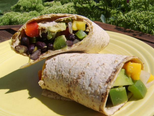 Veggie Bean Wrap. Photo by LifeIsGood