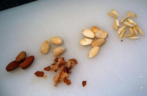 How to Blanch, Split, & Sliver Almonds. Photo by Mikekey