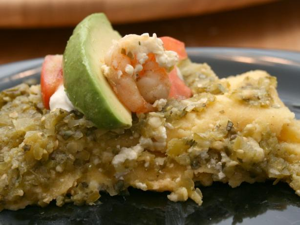 Shrimp and Cotija Enchiladas With Salsa Verde and Crema Mexicana. Photo by CandyTX