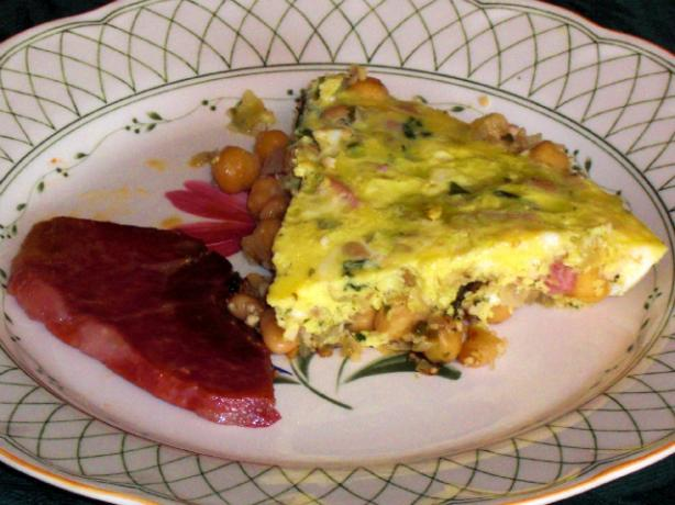 Portuguese Bean and Garlic Omelet. Photo by KateL