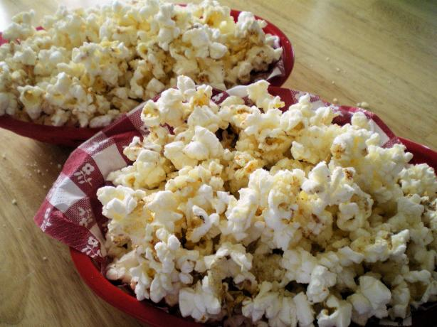 Sweet and Savory Popcorn With Honey and Parmesan Cheese. Photo by Julie B's Hive