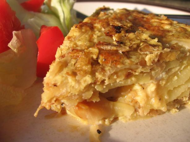 Tortilla Espanola (Traditional Spanish Potato Omelete).. Photo by Dreamer in Ontario