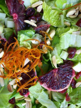 Orange Romaine Salad. Photo by Cookgirl