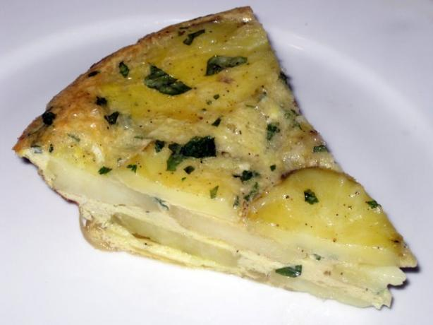 Potato and Onion Frittata. Photo by FrVanilla