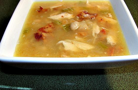 Chicken, Bacon and White Bean Soup Portuguese Style. Photo by diner524