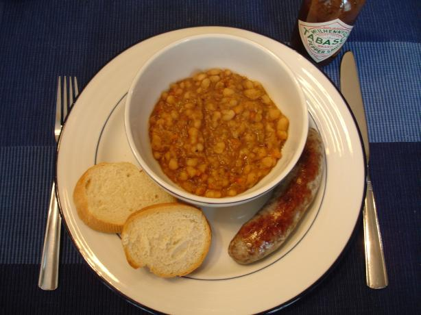 Navy Beans Cajun Style. Photo by KissKiss