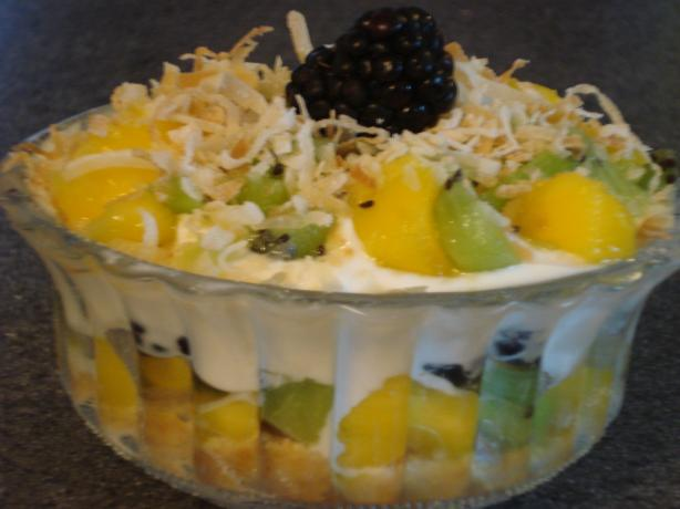 Kiwi, Berries and Yogurt Parfait With Toasted Coconut. Photo by Muffin Goddess