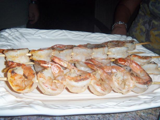 Simple Shrimp on the Barbie. Photo by alligirl