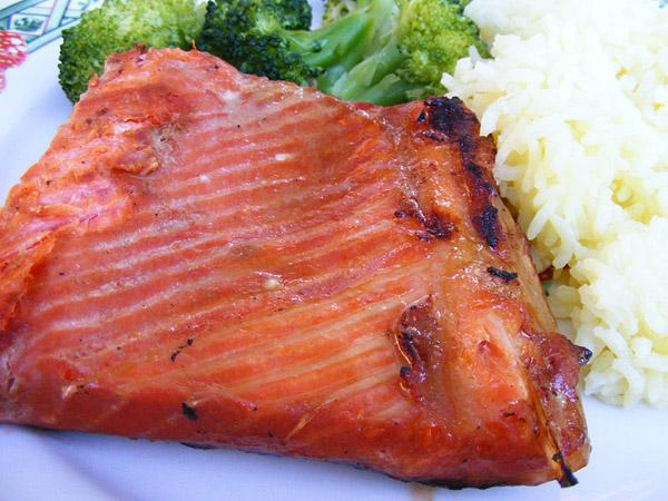 Chinese Barbequed Salmon. Photo by Lavender Lynn