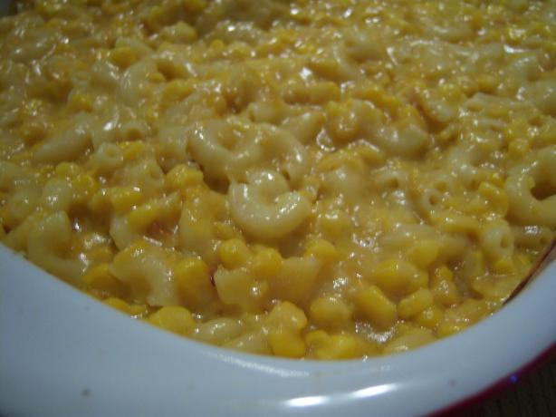 Macaroni & Corn Casserole. Photo by NELady