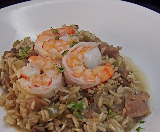 Dirty Rice With Sausage and Shrimp. Photo by PaulaG