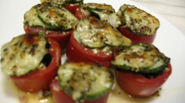 Marmie's Baked/Grilled Stuffed Greek Style Tomatoes. Photo by Marmie's