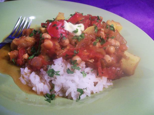 Ratatouille With Chickpeas -- Crock-Pot. Photo by Sharon123