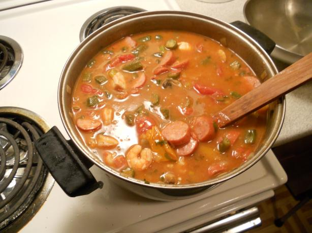 Smoked Sausage Gumbo (Slow Cooker). Photo by golddigge-wally
