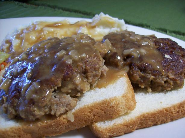 Beef Patties in Onion Gravy. Photo by Chef shapeweaver ©