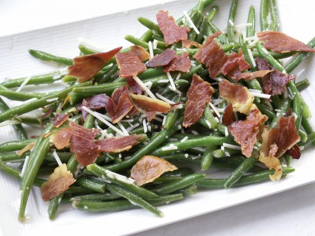 Green Bean Salad With Radishes and Prosciutto. Photo by JanuaryBride