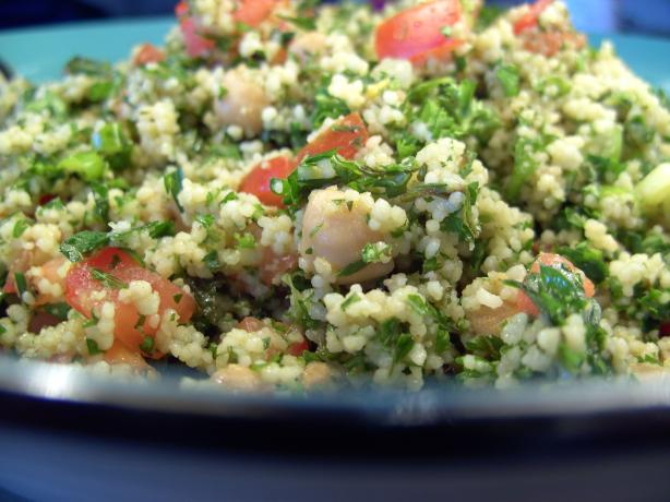 Tabouli & Chickpea Couscous Salad. Photo by JustJanS