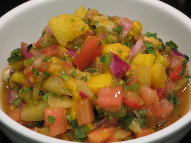 Fruit Salsa With Pineapple and Mango. Photo by Adelinkat