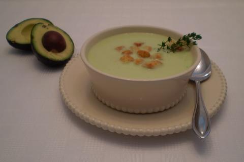 Crema De Aguacate -- Cream of Avocado Soup (South America). Photo by TasteTester