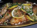 Butterflied Chicken With Herbs and Sticky Lemon