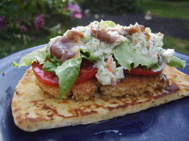 Chicken Naan-Wiches With Date and Yogurt Sauces. Photo by LifeIsGood
