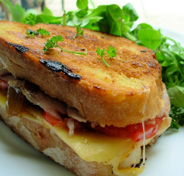 A Grilled Roasted Turkey & Provolone Sandwich. Photo by French Tart