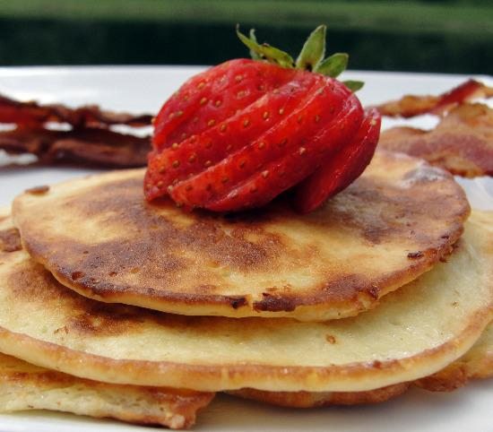Cottage Cheese Pancakes for 1. Photo by diner524
