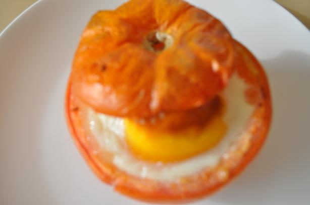 Baked Egg in Tomato. Photo by I'mPat