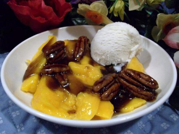 Mangoes Foster With Creme Fraiche (By Bobby Flay). Photo by 2Bleu