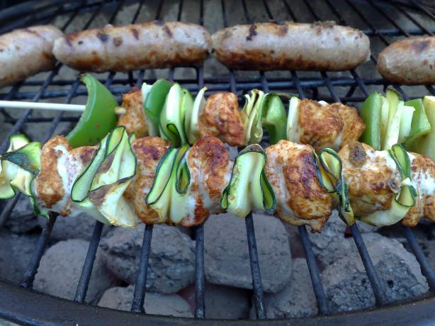 Elegant Chicken Zucchini Skewers. Photo by Shuzbud