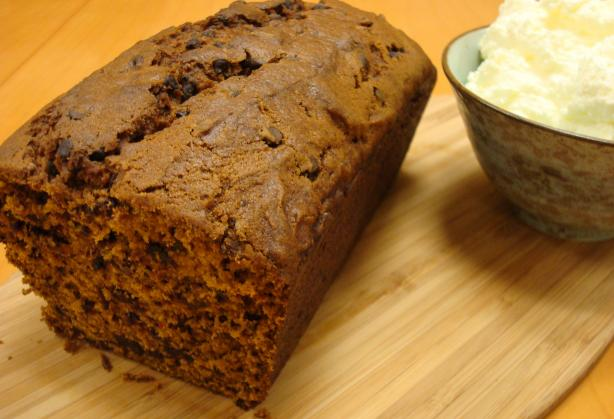 Pumpkin Bread With Mini Chocolate Chips. Photo by LoveMyVeggies