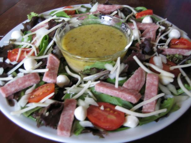 Chopped Salad With Italian Vinaigrette. Photo by Realtor by day, Chef by night