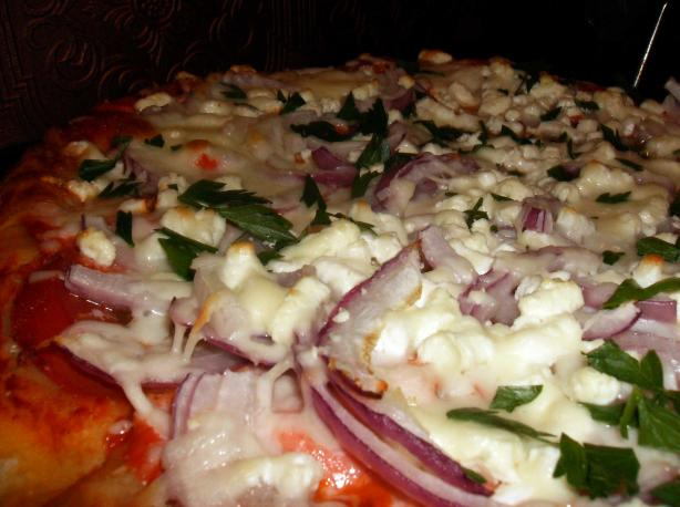 Smoked Salmon, Tomato and Feta Pizza. Photo by mersaydees