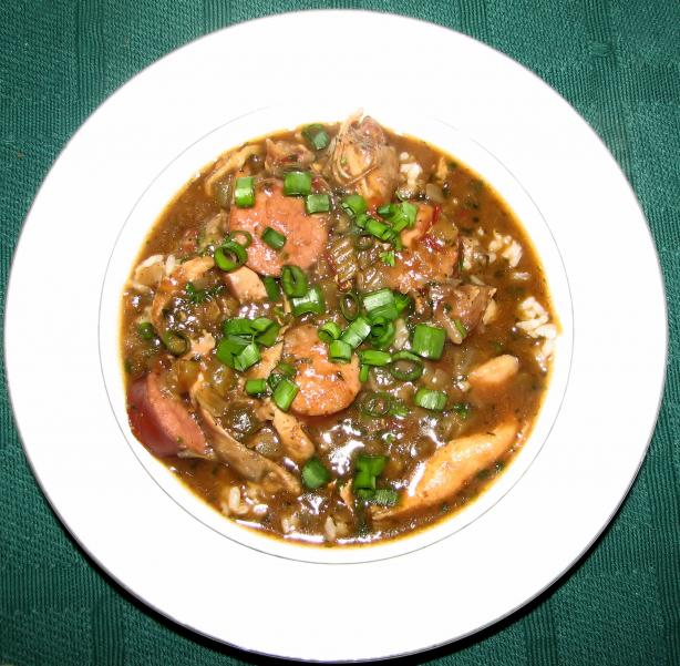 Authentic Cajun Chicken and Sausage Gumbo. Photo by Irishcolleen