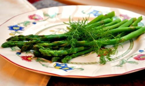 Acadia's Asparagus Side With Dill. Photo by Andi of Longmeadow Farm