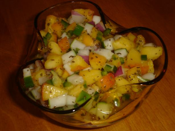 Peach and Cucumber Salsa. Photo by *Pixie*