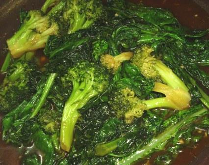Gai Lan (Chinese Broccoli ) With Oyster Sauce. Photo by Karen Elizabeth