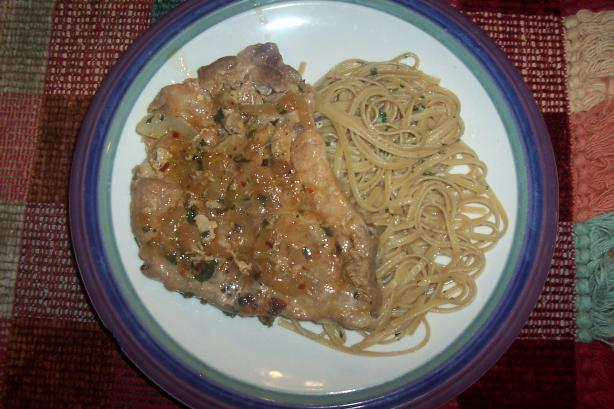 Veronica's Pasta Bianc (Pasta and Pork Chops). Photo by ARathkamp