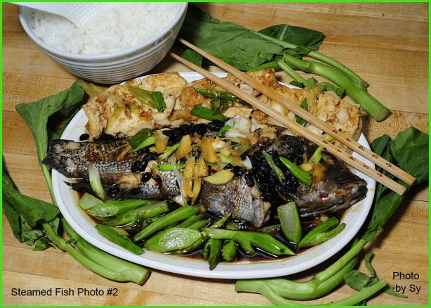 #1 Favorite Chinese Steamed Whole Fish by Sy. Photo by Skipper/Sy
