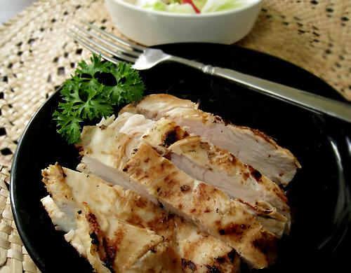 Paul's Grilled Italian Chicken Breasts. Photo by Caroline Cooks