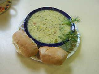 Uncle Bill's Fresh Young Pea & Vegetable Soup. Photo by William (Uncle Bill) Anatooskin
