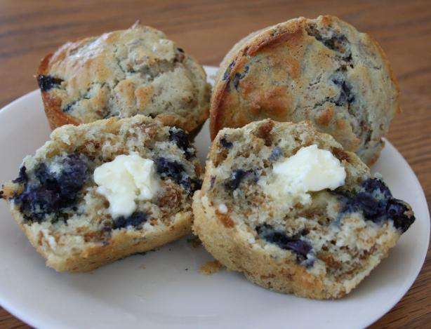 Blueberry Bran Muffins. Photo by The Homemaking Helper