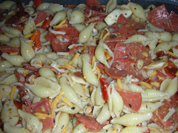 Pepperoni Pizza Pasta Salad. Photo by JackieOhNo!