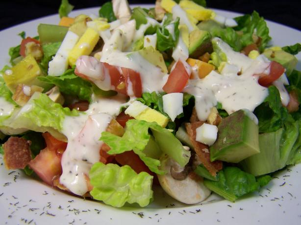Bacon Lettuce Tomato (And More) Salad With Blue Cheese Dressing. Photo by Diana #2