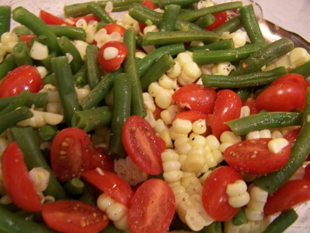 Jeanne's Green Beans, Corn and Cherry Tomato Salad. Photo by Rae England