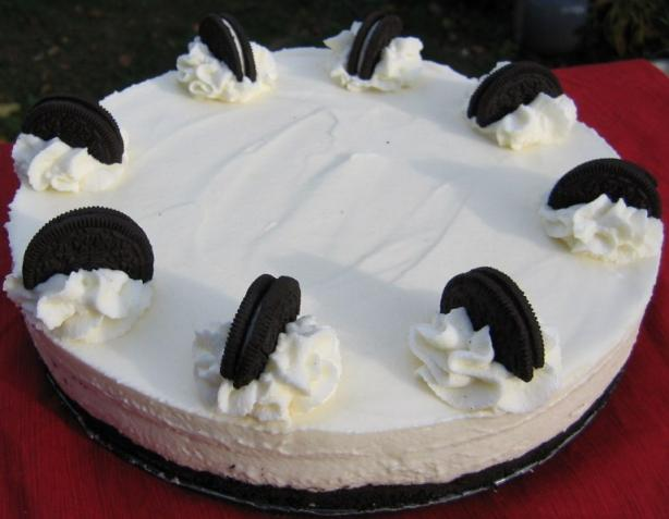 White Chocolate Mousse Torte With Oreo Cookie Crust. Photo by Realtor by day, Chef by night